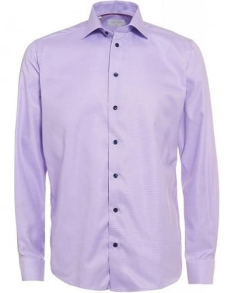 Purple Fine Twill Pinhead Shirt