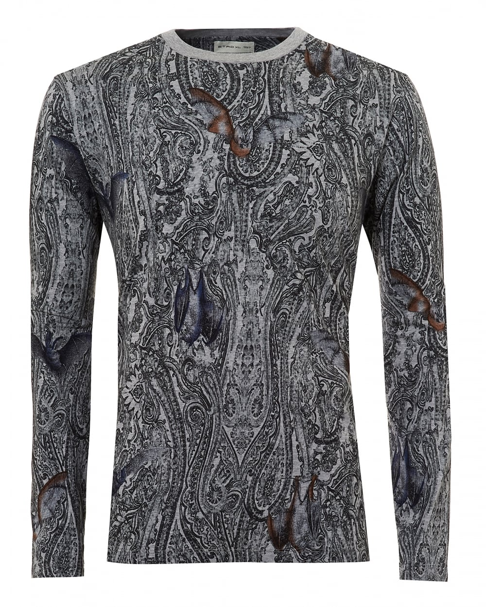 Footlocker For Sale Outlet Locations Cheap Online paisley T-shirt - Grey Etro y1Sd6jL