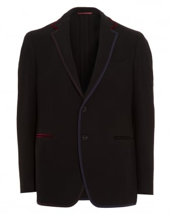 Mens Blazer, Contrasting Edges Jersey Navy Jacket