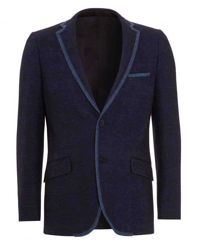 ETRO Mens Contrast Piping Jacket Navy