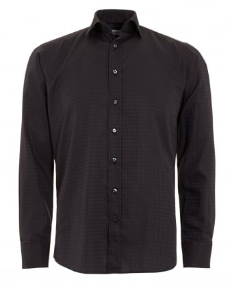 Mens Dogtooth Shirt Black