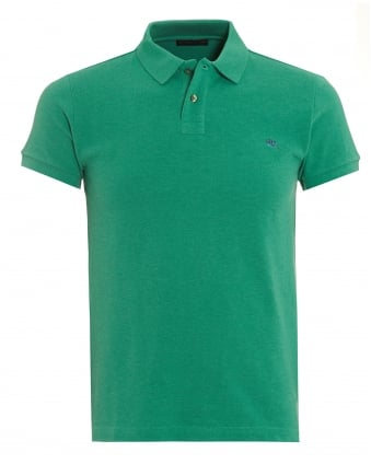 Mens Green Slim Fit Polo Shirt