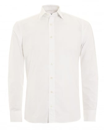Mens Jacquard Shirt White