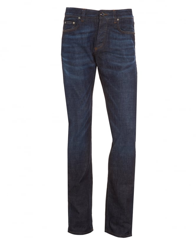 Etro Mens Jeans, Dark Whisker Slim Fit Denim