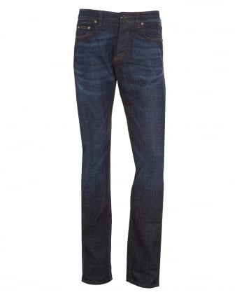 Mens Jeans, Dark Whisker Slim Fit Denim