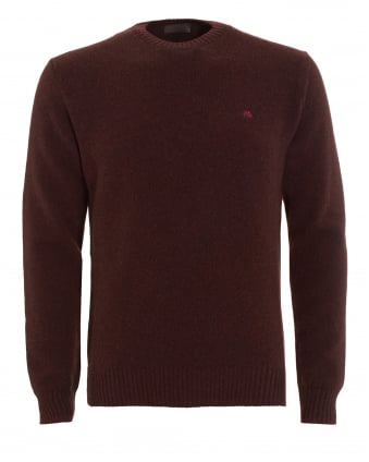 Mens Jumper, Burgundy Logo Sweater