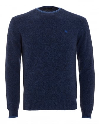 Mens Jumper, Navy Blue Logo Sweater