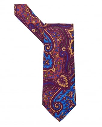 Mens Large Paisley Multi Purple Tie