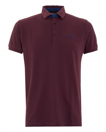 Mens Logo Polo Burgundy
