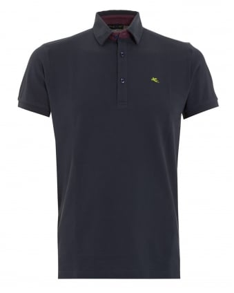 Mens Logo Polo Navy
