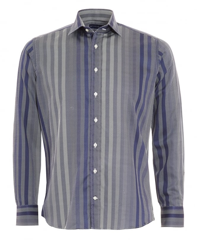 Etro Mens Multi Stripe Shirt Navy
