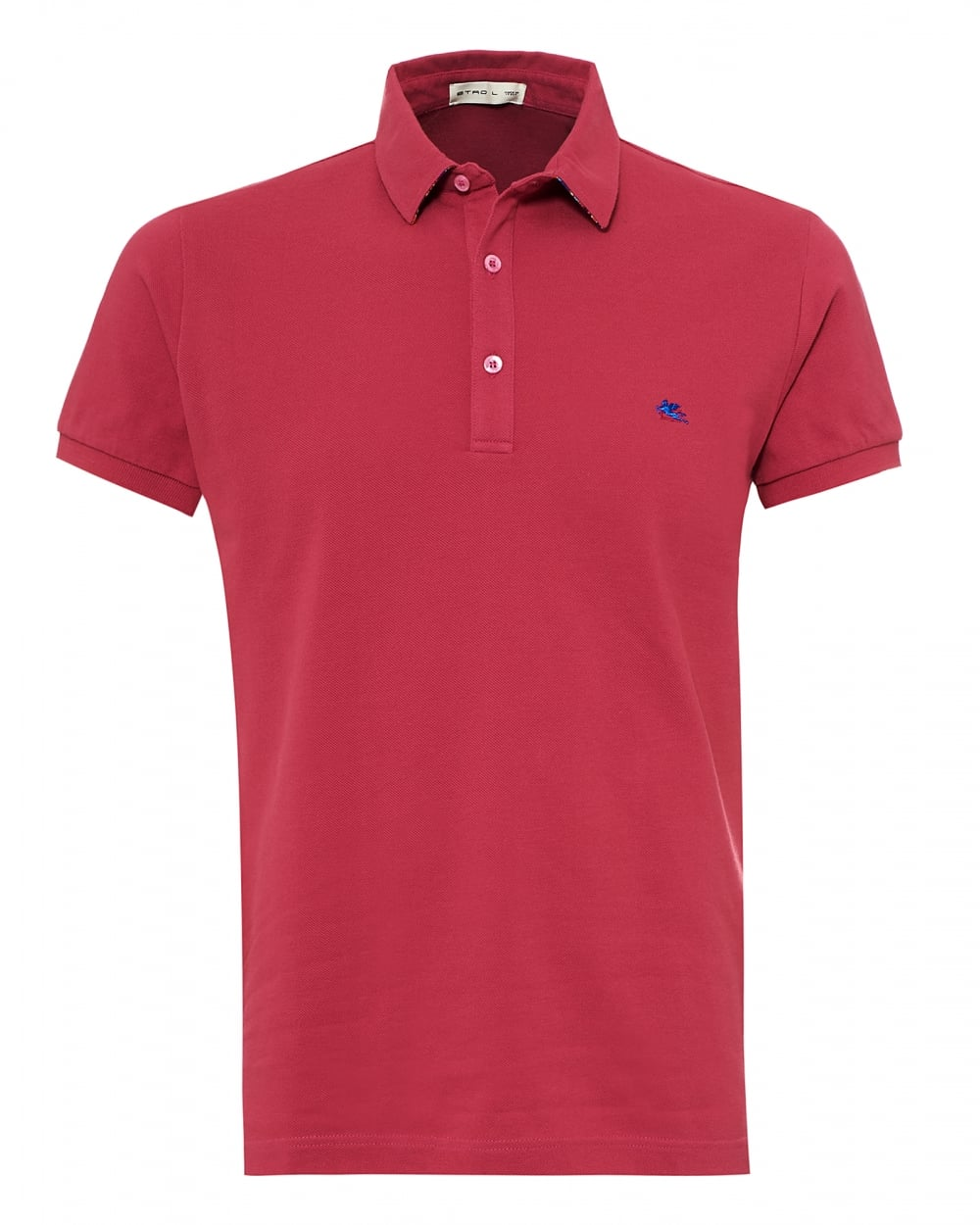 Etro mens paisley print undercollar polo shirt reg fit for Mens pink shirts uk