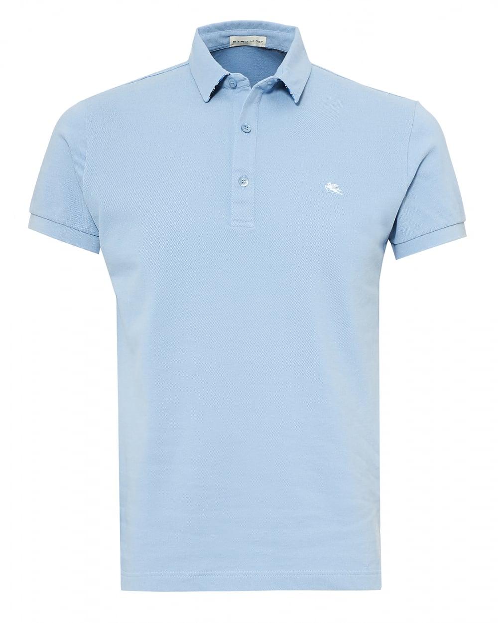 Etro mens paisley print undercollar polo shirt reg fit for Etro men s shirts