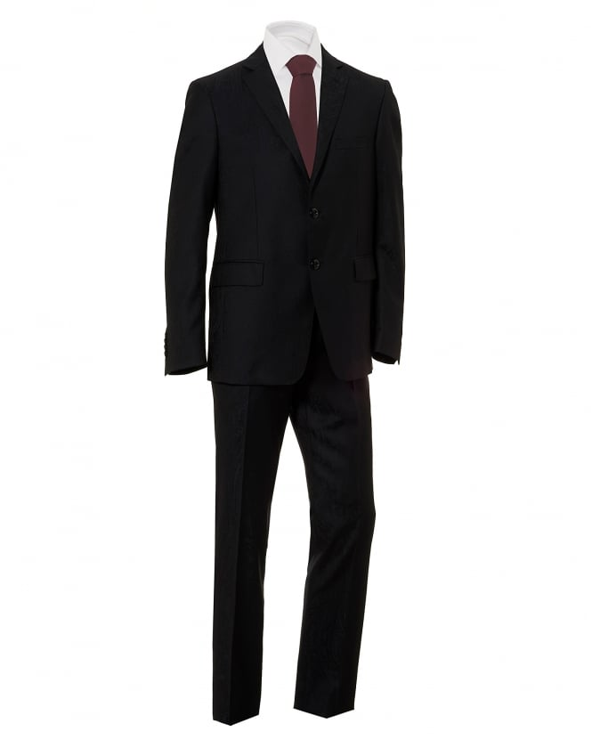 Etro Mens Penguin Lining Paisley Black Dinner Suit