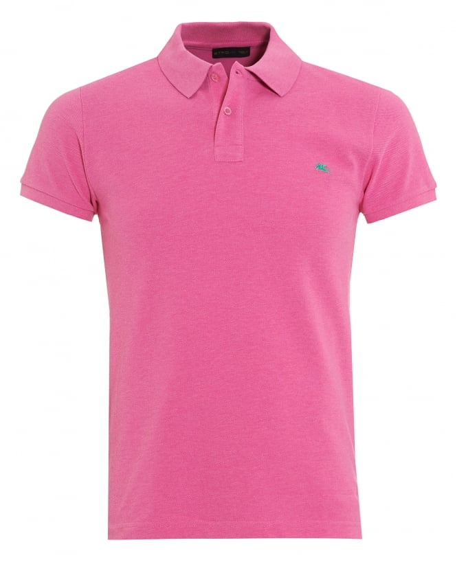 Etro Mens Pink Slim Fit Polo Shirt