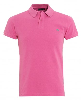 Mens Pink Slim Fit Polo Shirt