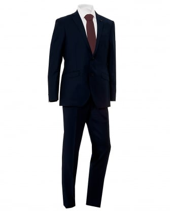 Mens Sharkskin Deckchair Striped Lined Blue Suit