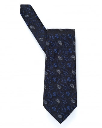 Mens Small Floral Paisley Print Tie