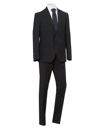 Mens Subtle Check Fully Lined Regular Fit Grey Suit