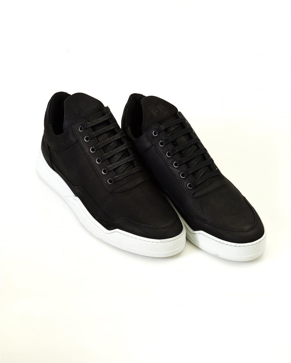 ac32d865da3b Filling Pieces Mens Black Low Top Trainers