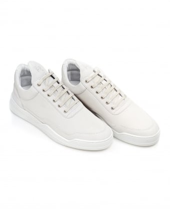Mens Ghost Low Tops, Nubuck White Trainers