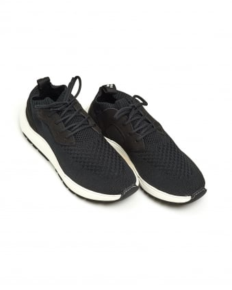 Mens Knit Speed Arch Runner Trainer, Branded Black Sneakers