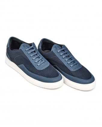Mens Low Mondo Ripple Nardo Trainer, Two Tone Navy Blue Sneakers