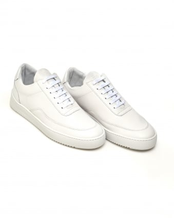 Mens Low Mondo Ripple Nardo Trainers, All White Sneakers