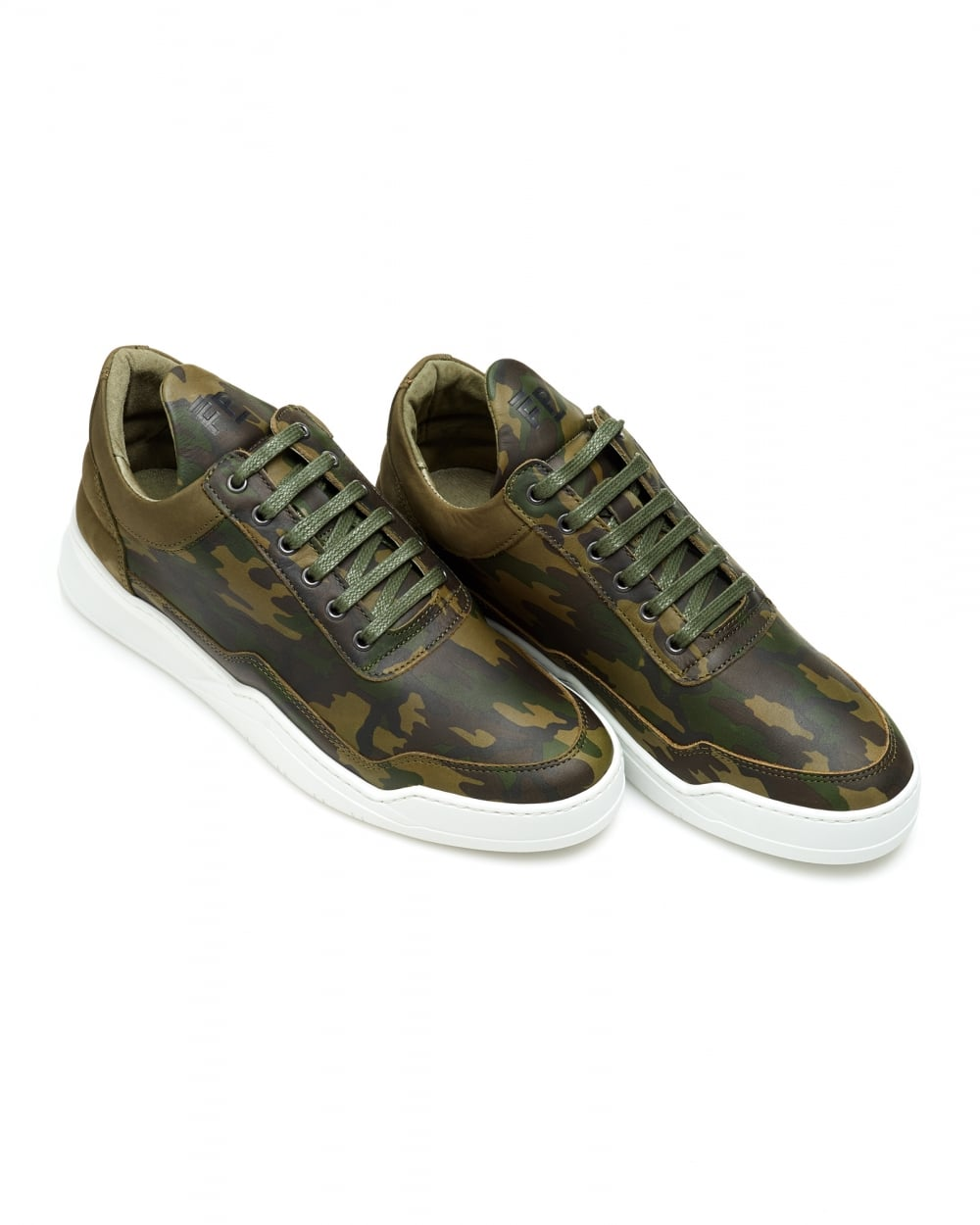 7b807bb3c75f3 Filling Pieces Mens Low Top Ghost Trainers, Camo Green Sneakers