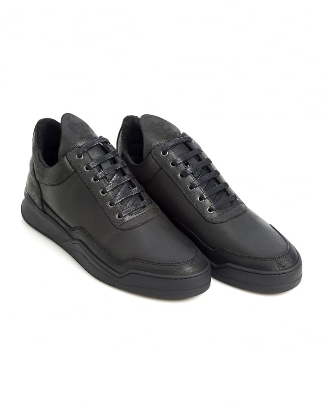 Filling Pieces Mens Low Top Trainers, Ghost Black Sneakers