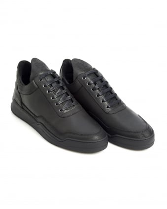 Mens Low Top Trainers, Ghost Black Sneakers