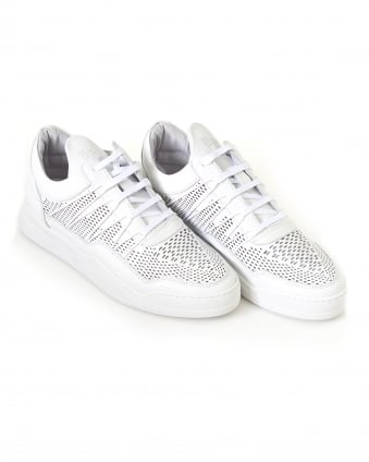 Mens Low Top Trainers, Ghost Cane White Sneakers