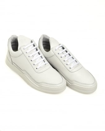 Mens Low Top Trainers, Ghost White Sneakers