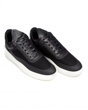 Mens Sky Low Tops, Seamless Black Trainers