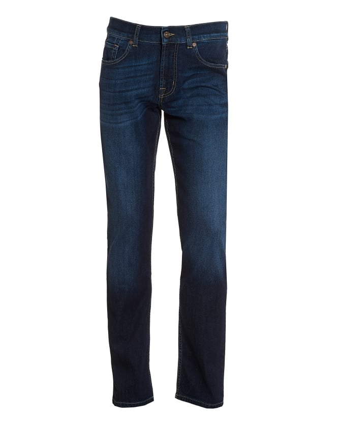 For All Mankind Mens Dark Whisker Jeans, Dark Blue New York Jeans