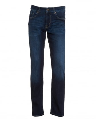 Mens Dark Whisker Jeans, Dark Blue New York Jeans