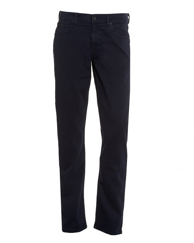 For All Mankind Mens Luxe Performance Jeans, Plain Navy Jeans
