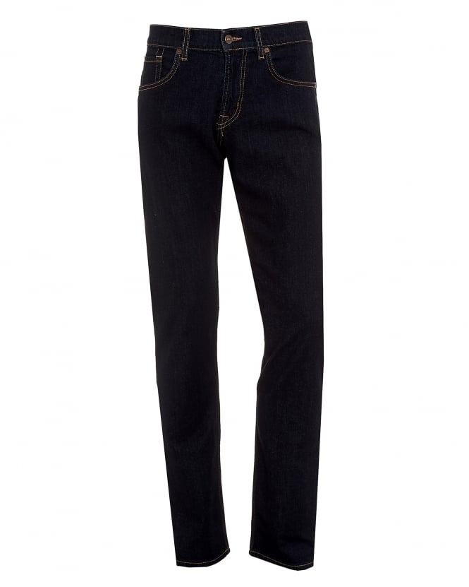 For All Mankind Mens New York Rinse Jeans, Straight Cut Denim