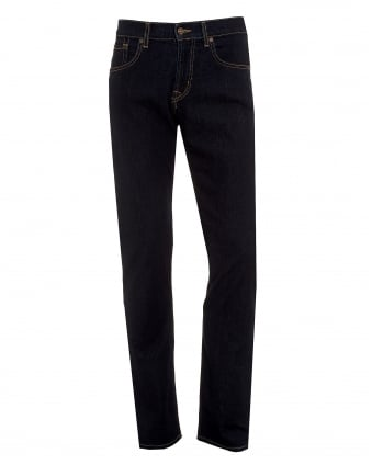 Mens New York Rinse Jeans, Straight Cut Denim