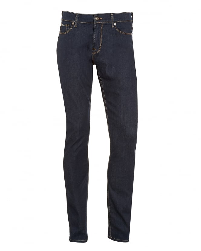 For All Mankind Mens Ronnie Jeans, Dark LA Rinse Slim Fit Denim