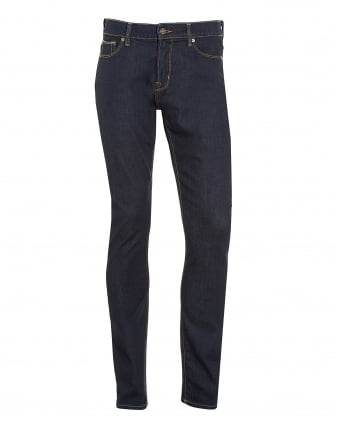 Mens Ronnie Jeans, Dark LA Rinse Slim Fit Denim
