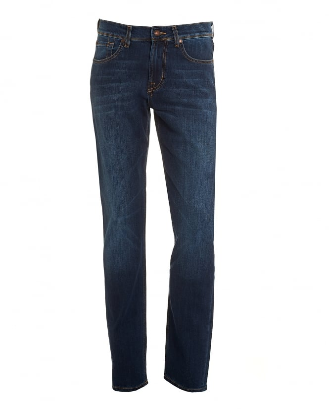 For All Mankind Mens Slimmy Jeans, Foolproof Blue Slim Fit Denim