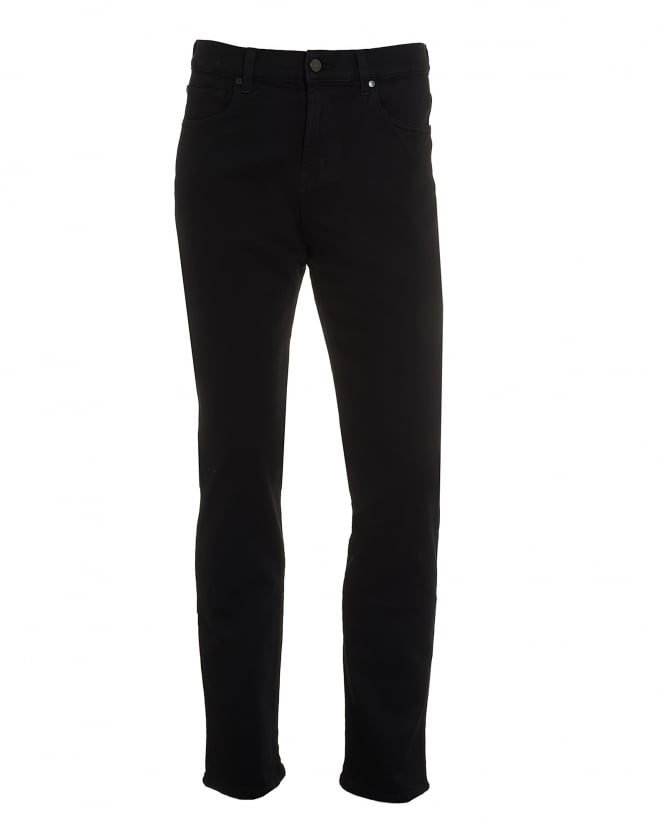 For All Mankind Mens Slimmy Jeans, Luxe Performance Black Denim