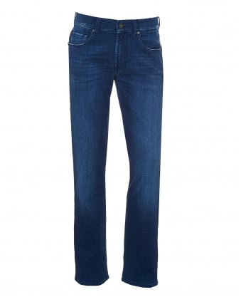 Mens Slimmy Jeans, Luxe Performance Bright Blue Wash Denim