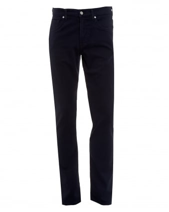 Mens Slimmy Jeans, Luxe Performance Navy Blue Denim