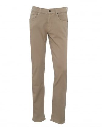 Mens Slimmy Jeans, Luxe Performance Stone Beige Denim