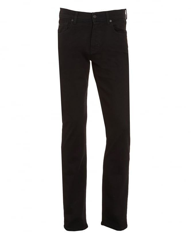 For All Mankind Mens Slimmy Jeans, Slim Fit Black Rinse Denim