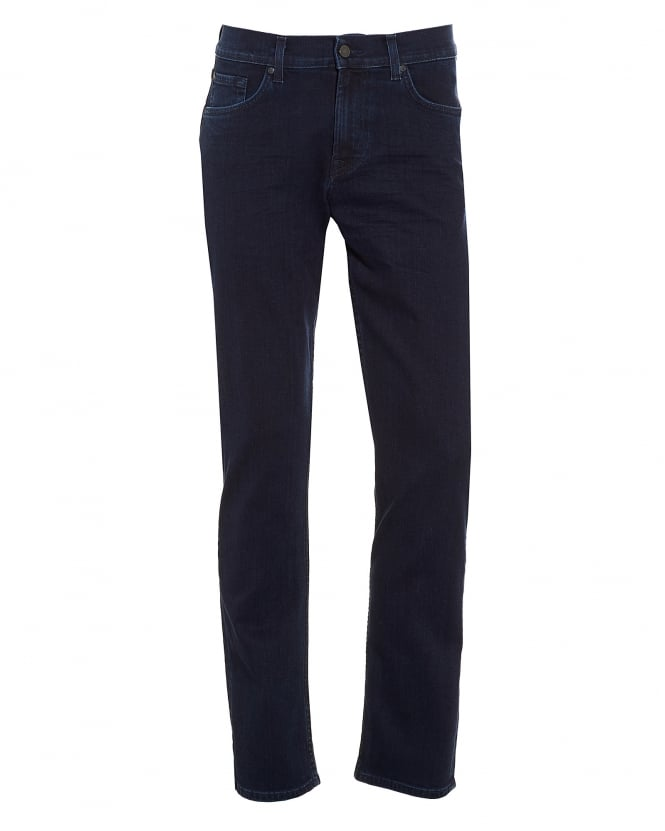 For All Mankind Mens Slimmy Jeans, Slim Fit Dark Rinse Denim