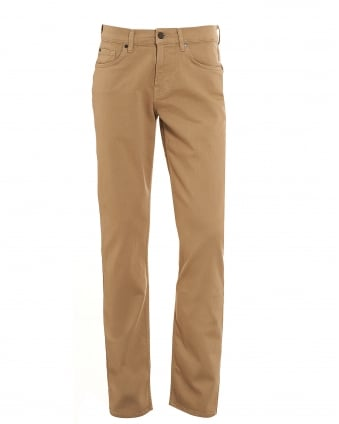 Mens Trousers, Slimmy Luxe Performance Beige Chinos