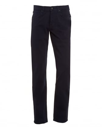 Mens Trousers, Slimmy Luxe Performance Navy Blue Chinos
